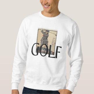 Escuela vieja del golf SUPERIOR Sudadera Con Capucha