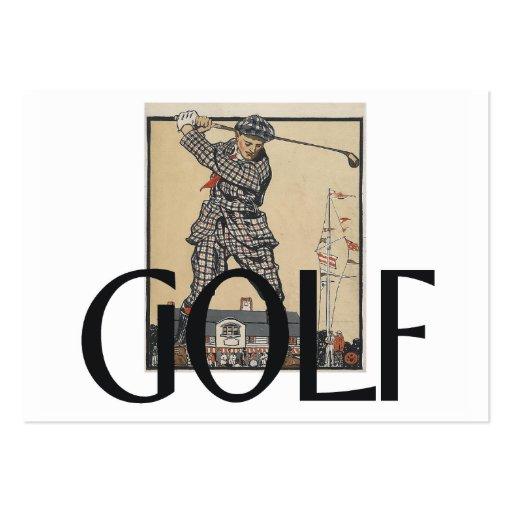 Escuela vieja del golf SUPERIOR Plantilla De Tarjeta De Negocio