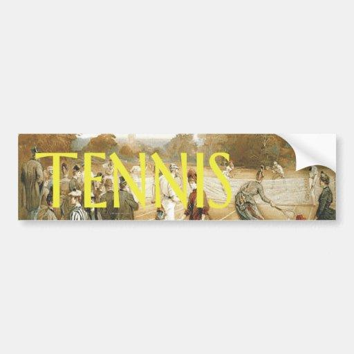 Escuela vieja del tenis SUPERIOR Pegatina Para Auto