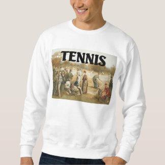 Escuela vieja del tenis SUPERIOR Sudaderas Encapuchadas