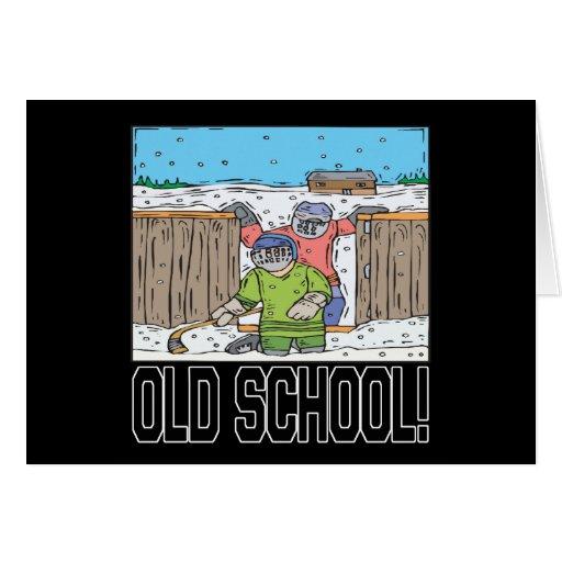 Escuela vieja felicitación