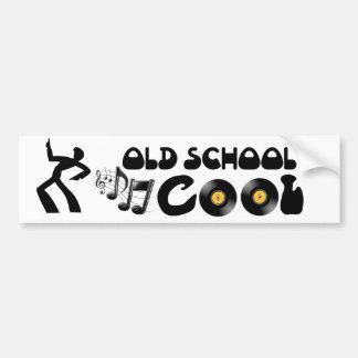 Escuela vieja fresca - discos de vinilo y buena mú pegatina para auto