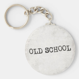 Escuela vieja llavero redondo tipo pin