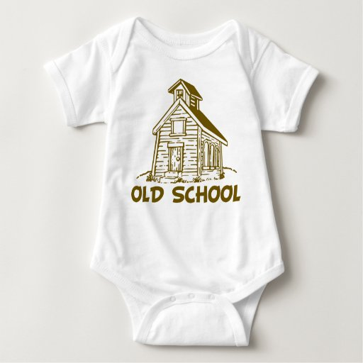 Escuela vieja mameluco de bebé