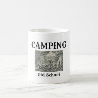 Escuela vieja que acampa de la CAMISETA Taza De Café