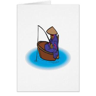 Escuela vieja que pesca 2 tarjetas
