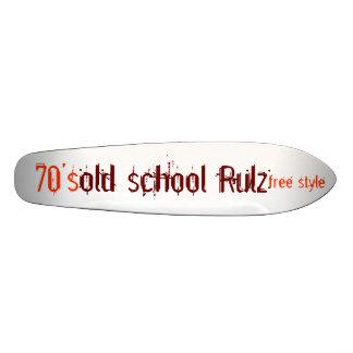 escuela vieja Rulz estilo libre los años 70 Monopatín Personalizado