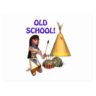 Escuela vieja tarjeta postal