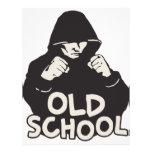 Escuela vieja tarjeta publicitaria