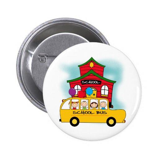 Escuela y camisetas y regalos del autobús escolar pin