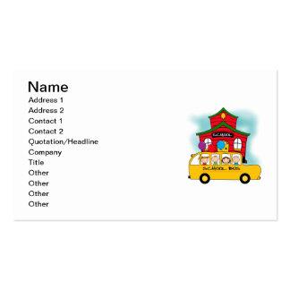 Escuela y camisetas y regalos del autobús escolar tarjetas de visita
