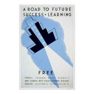 Escuelas adultas libres WPA 1938 Impresiones