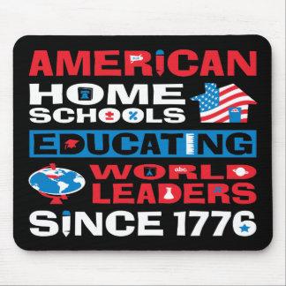 Escuelas caseras americanas mousepad