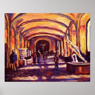 Esculpe el ln el Louvre Poster
