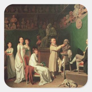 Esculpir el busto del marqués de Pedro Pegatinas Cuadradases Personalizadas