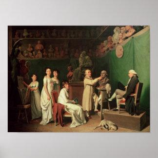 Esculpir el busto del marqués de Pedro Posters