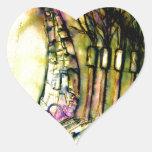 esculpir la tierra calcomania de corazon