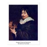 Escultor Francois Duquesnoy de Anthony Van Dyck Tarjetas Postales