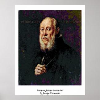 Escultor Jacopo Sansovino de Jacopo Tintoretto Póster