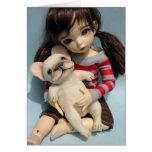 Escultura 2 de la muñeca del dogo francés felicitación