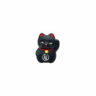 Escultura afortunada del gato negro llavero fotográfico