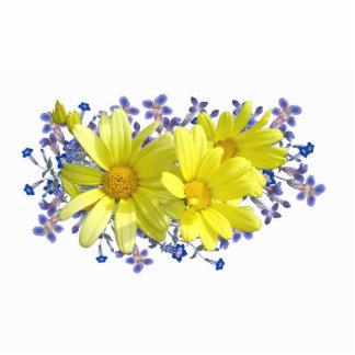 Escultura amarilla de la foto del Pin del ramo de  Pin Fotoescultura