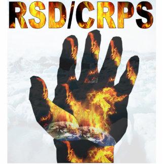 Escultura ardiente de la foto de la mano de CRPS/R Fotoescultura Vertical