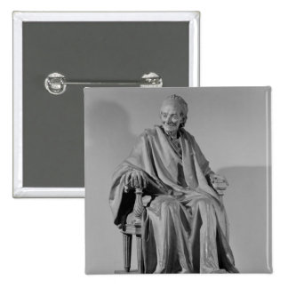 Escultura asentada de Voltaire Pin Cuadrada 5 Cm