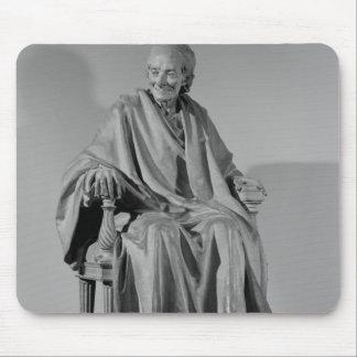 Escultura asentada de Voltaire Tapetes De Ratón
