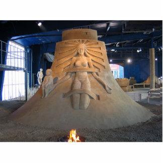 escultura asombrosa de la arena de Ruslan Korovkov Fotoescultura Vertical