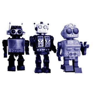 escultura azul de la foto de los robots fotoescultura vertical