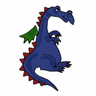 Escultura azul de la foto del dragón de BW Fotoescultura Vertical