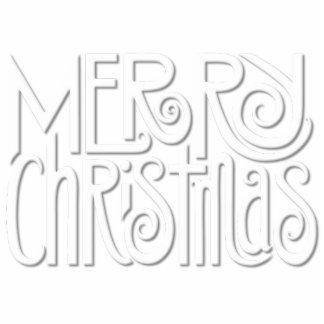 Escultura blanca de la foto de las Felices Navidad Fotoescultura Vertical