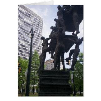 Escultura de Atlanta Tarjeta De Felicitación