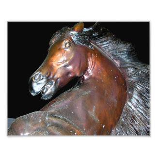 Escultura de bronce del caballo fotografia