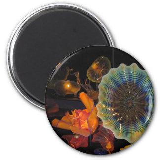 Escultura de cristal imán redondo 5 cm