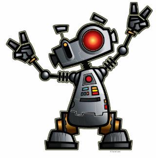 Escultura de Diz del robot Fotoescultura Vertical