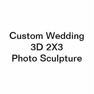 Escultura de encargo de la foto de 3D que se casa Escultura Fotográfica