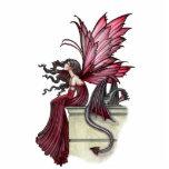 Escultura de hadas gótica de la foto del dragón esculturas fotograficas