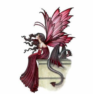 Escultura de hadas gótica de la foto del dragón fotoescultura vertical