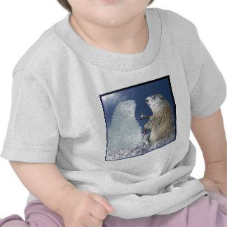 Escultura de hielo del día de la marmota camiseta