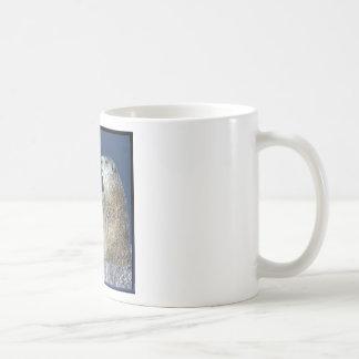 Escultura de hielo del día de la marmota tazas de café