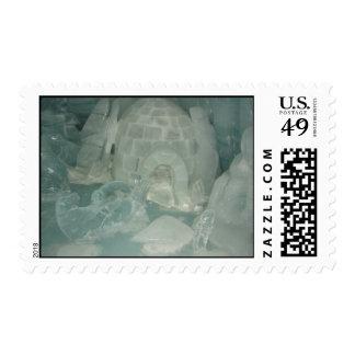 Escultura de hielo del iglú sellos