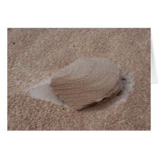 Escultura de la arena de la naturaleza tarjeta de felicitación