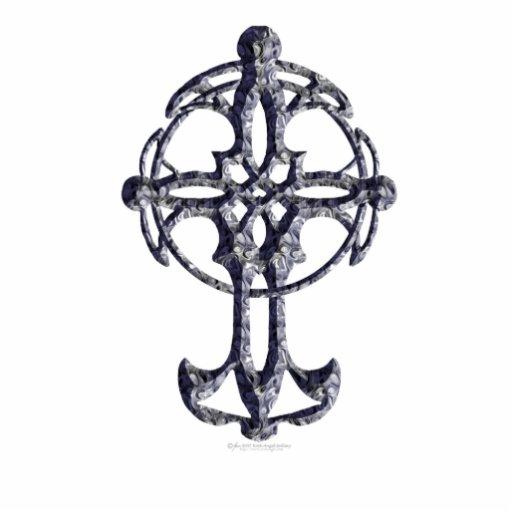 Escultura de la cruz céltica escultura fotografica