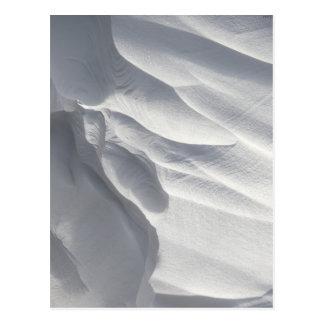 Escultura de la deriva de la nieve del invierno tarjetas postales