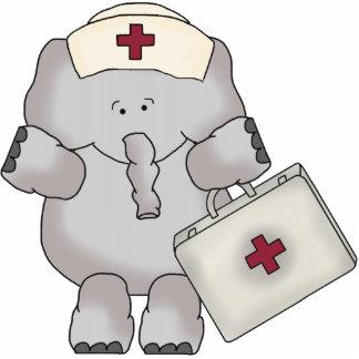 Escultura de la enfermera del elefante fotoescultura vertical