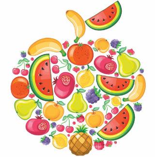 Escultura de la foto de Apple de la fruta Fotoescultura Vertical