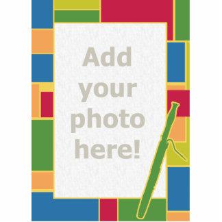 Escultura de la foto de Colorblocks del Bassoon Fotoescultura Vertical