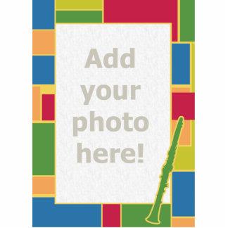 Escultura de la foto de Colorblocks del Clarinet Fotoescultura Vertical